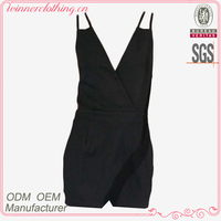 Women sex black party dress with spaghetti strap