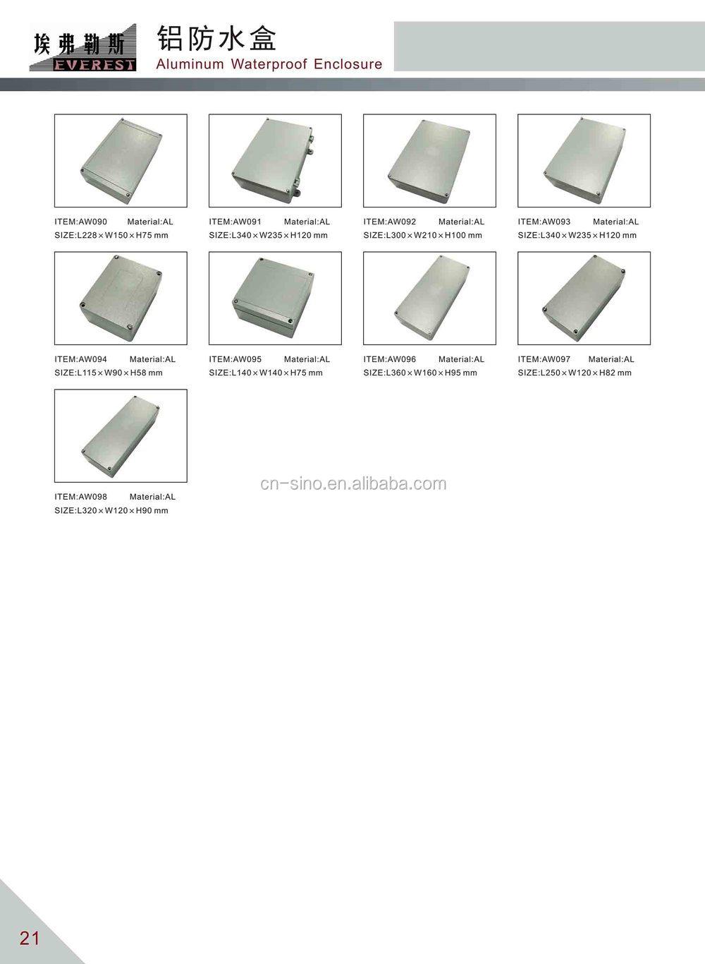 ip67 standard die cast aluminum waterproof enclosure for