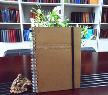 China Supplier PP Kraft Cover Spiral Chipboard Notebook