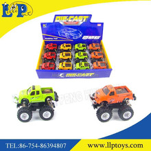 New design spring friction metal pickup truck toy