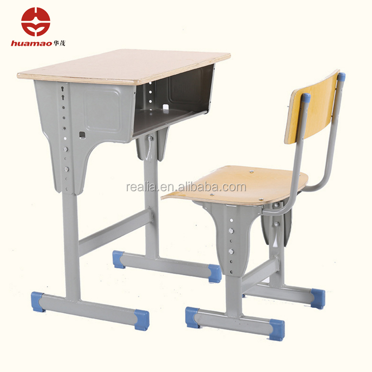 Adjustable height Single layer and column Children desk and chair