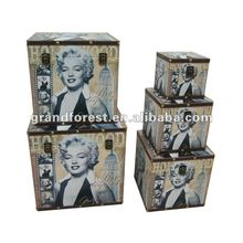 2012 Popular Marylin Monroe Storage Wooden boxes