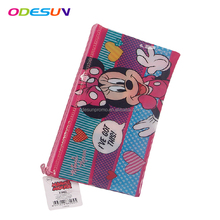 2018 Customized Cheap clear PVC Plastic Zipper Pencil Case For Student