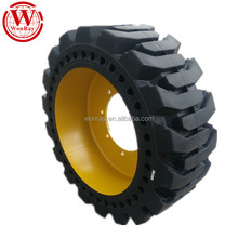 China famous solid tire factory 10-16.5 12-16.5 bobcat skidsteer tires for sale at lowest price