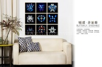 2016 Hot sale butterfly acrylic painting for wall decor