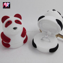 China mascot Antique Panda ring earring necklace jewel box