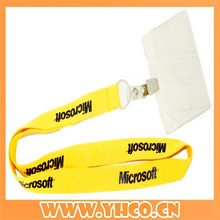 Custom yellow printed microsoft lanyard