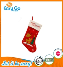 Hot new Christmas gifts of red stockings with printing Milu deer