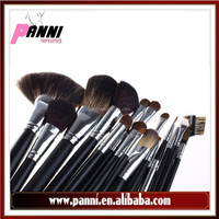 2015 Newest air brush makeup kit 20pcs goat,raccoon,pony hair brush with satin pouch