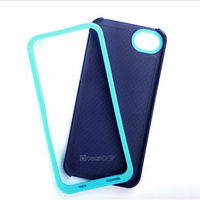 Combo case for iphone5 pc tpu glossy hybrid case China cell phone accessories