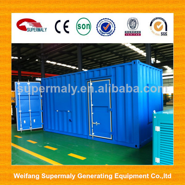 Hot sale!!!1MW / 2MW lower noise biogas plant generator with container