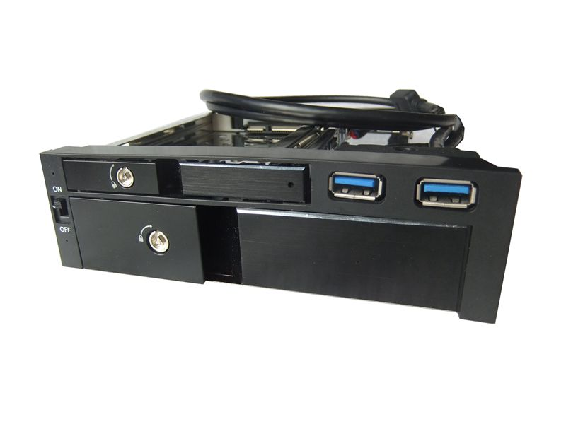 "5.25"" Hot Swap Mobile Rack HDD case 2.5""+ 3.5"" SATA/SAS internal hdd enclosure"