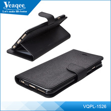 Veaqee flip wallet smartphone leather case for iPhone 6 plus