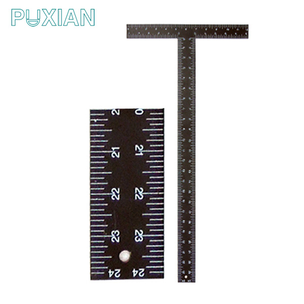Factory direct sell cheap stainless steel black t type square ruler
