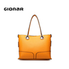 Customize branded ladies shop designer italian leather bags importers women genuine leather handbag