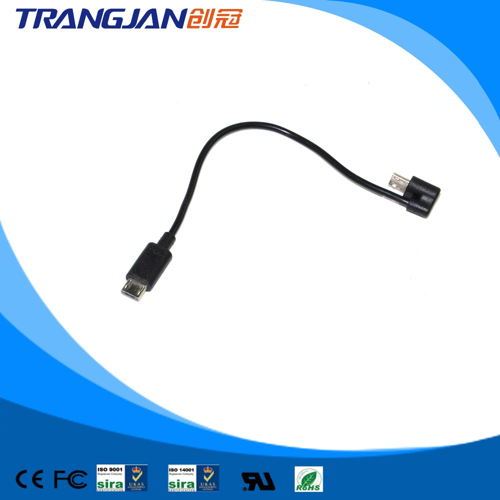 Type C 3.1 90 degree right angle to micro 5pin otg cable