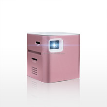 Mobile phone partner---P6 DLP portable mini projector with WIFI,Aluminum case with elegant design