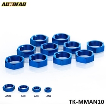 "AUTOFAB - AN10 AN-10 7/8""-14 HEX NUT For Male Union Flare Bulkhead Fitting Adapter TK-MMAN10"