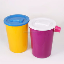 15kgs Cheapest air tight plastic unbreakable personalized containers round dog pet food storage container