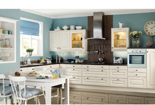 White kitchen furniture china made carved pvc kitchen cabinet door designs