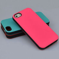 PC Shockproof Dirt Dust Proof Black Hard Matte Cover Case For Apple iPhone 5 5s