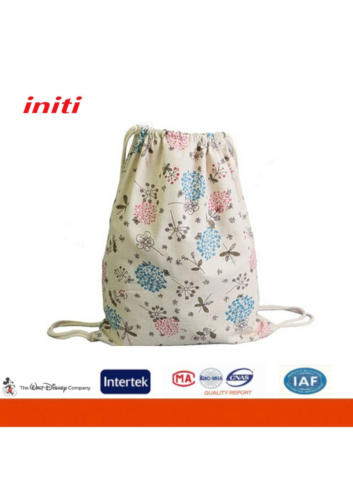 Factory Sale Cheapest Price Customized Cotton Canvas Drawstring Bag