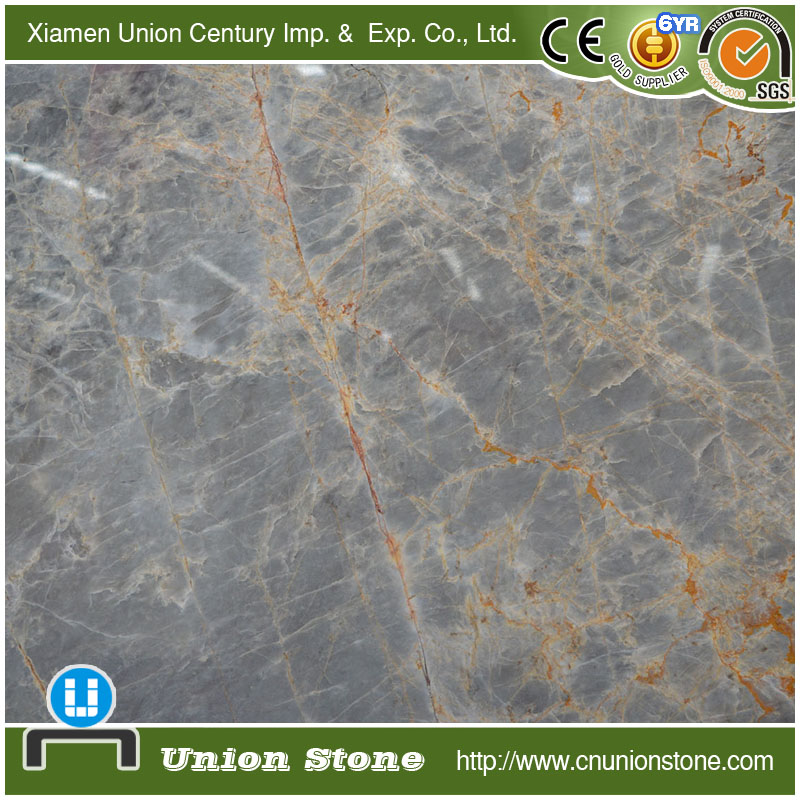 Hot sale gold wood grain grey travertine marble slab price