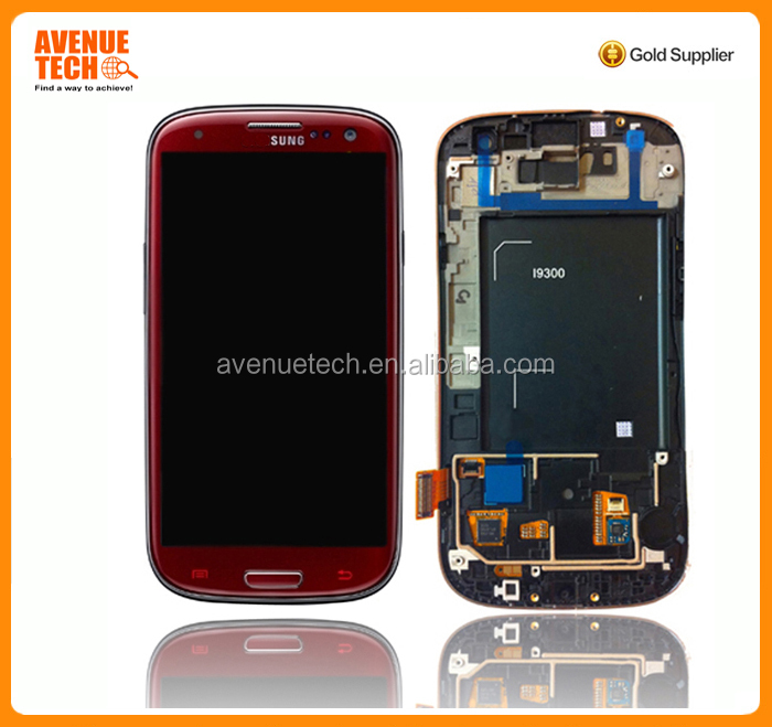 Best quality China Factorywholesale cell phone accessory lcd for samsung galaxy s3 i9300 lcd touch screen
