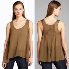 Most Fashionable Ladies Double Layer Sleeveless Smart Casual Blouse