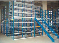 Warehouse cold rolled steel storage Attic shelves rack