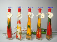 pyramid shape kitchen decorative fruit and vegetable glass bottles