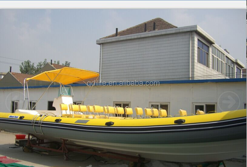 30 people large fishing boat inflatable pvc zodiac boat for sale