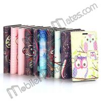 Newest 2014 for Samsung Galaxy Core Plus Case, Cat/Elephant/Owl Style Leather Flip Case for Samsung Galaxy Core Plus G3500