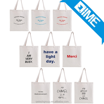 High Quality Durable Custom Logo Fashion Student Style Cavans Tote Bag