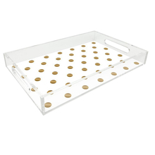 wholesale 3mm plexiglass rectangle clear acrylic serving tray storage, lucite tray, acrylic makeup storage containers