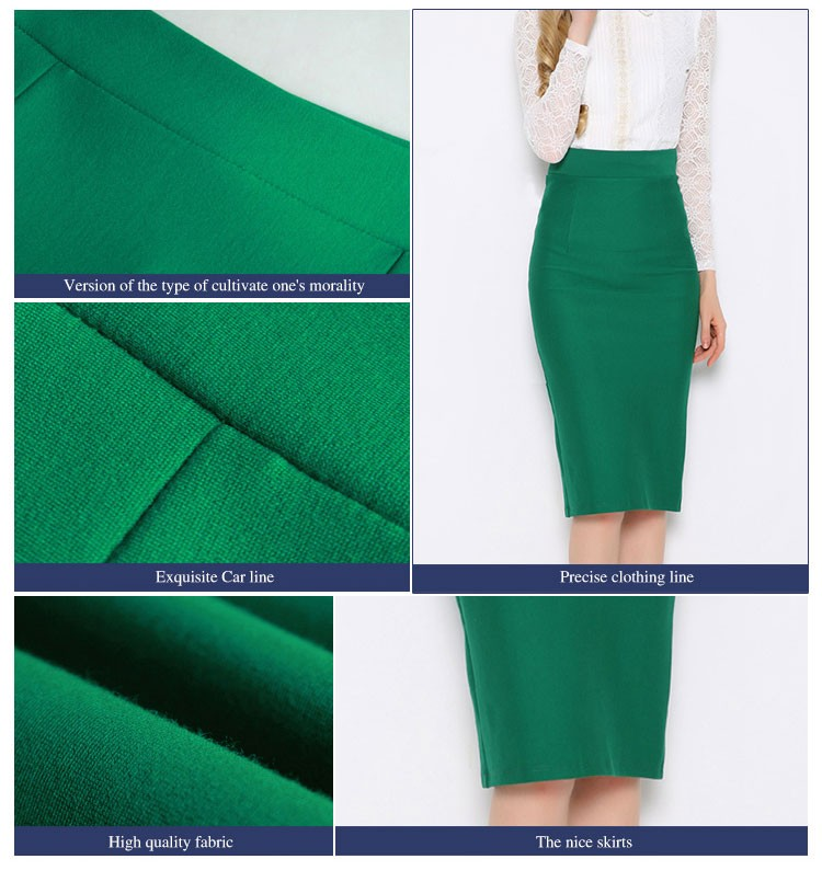 Custom Made Pencil Latest Long Skirt Design