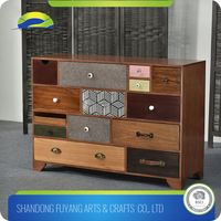 Wooden Storage Cabinet With 4 Drawers For Storing Toys