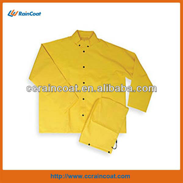 Adult polyester pvc safety rain suits