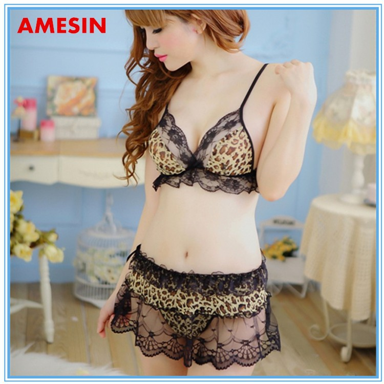 Very Sexy Hot Lingeries leopard print First Night Sexy Lingerie