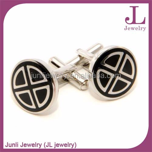 High Quality Stainless Steel Custom Enamel Cufflinks Fashionable ...