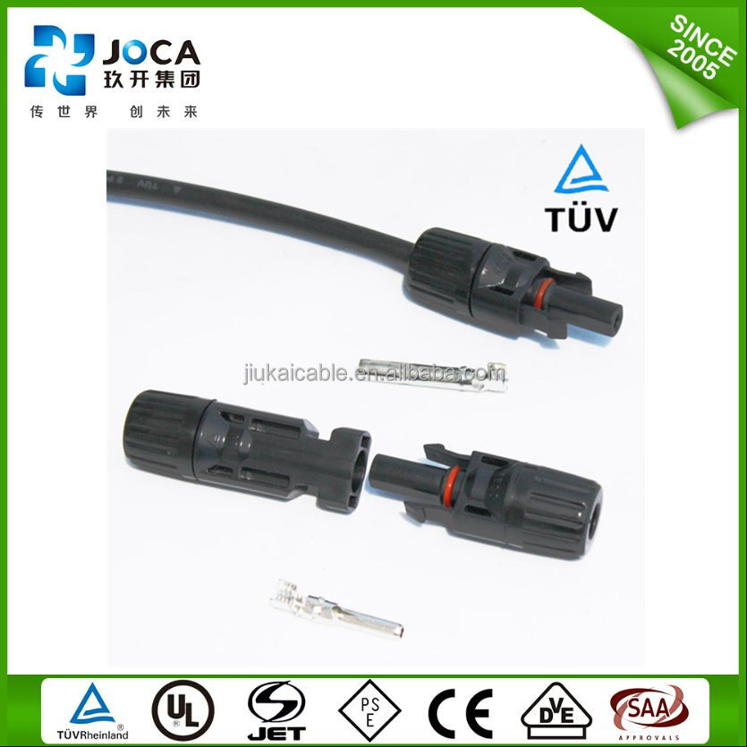 TUV/UL Standard Solar PV Connectors application to 2.5/4/6mm2 Solar cables IP67 t connector MC3/MC4 junction box solar connector