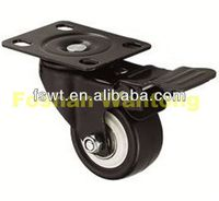 Washing Machines Hardware Small Duty Biaxial Bearing polyurethane and polyvinylchlorid wheels For Trailers