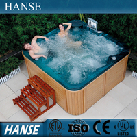 SPA-H01 hot spring china outdoor corner bath spa with tv