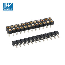Machine Pin IC Series connector 2.54mm H=1.9mm SIP IC SOCKET V/T type HY1029-07