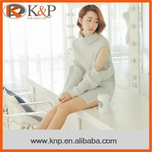 High performance wholesale grey ladies sweater pullover for winter