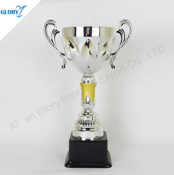wholesale hot sell sliver trophy cup with plastic