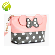 China supplier Mickey Mouse shape makeup bag useful funny cosmetic bag