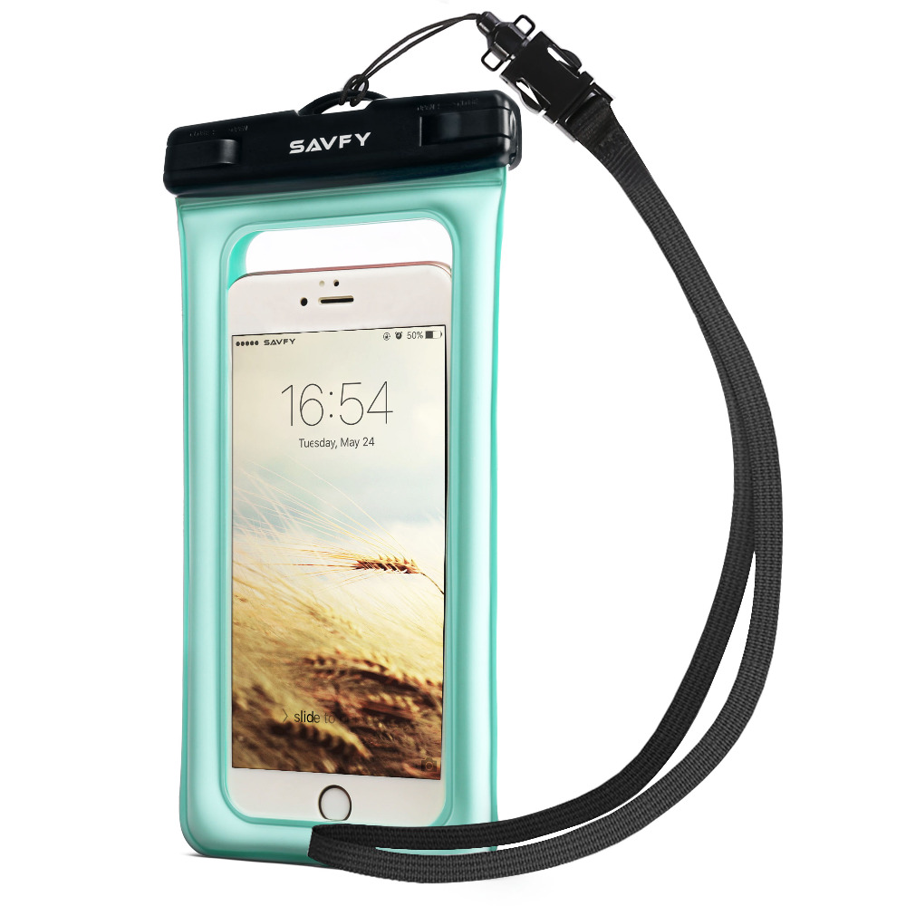 SAVFY Universal 7 inch Floatable Waterproof Mobile Smart Phone Case Bag