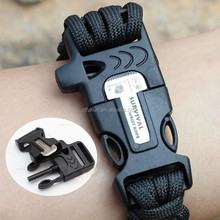 useful 550 paracord survival bracelet with fire starter buckle accessories