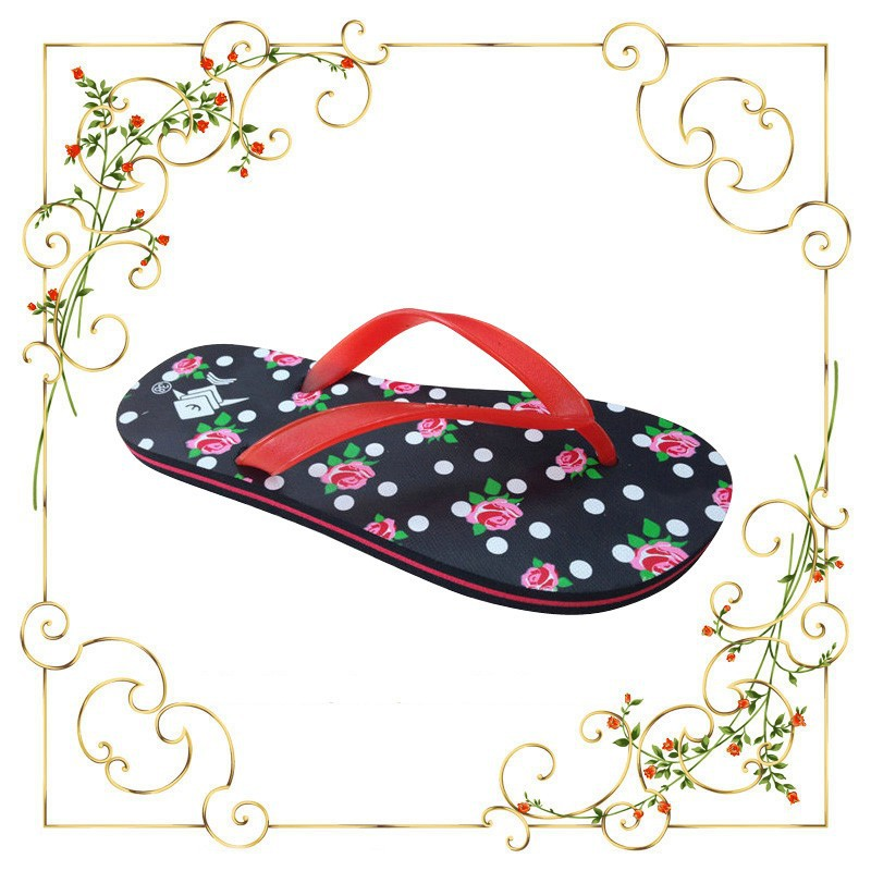 2015cute circle dot women fancy slippers